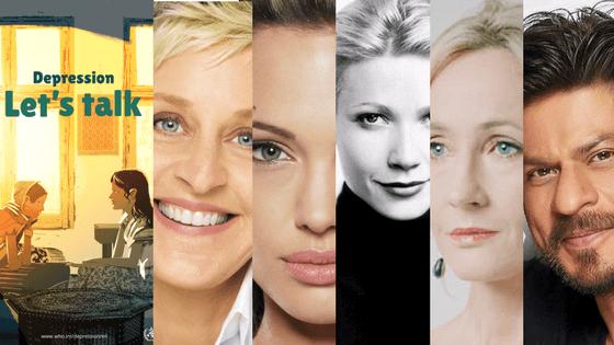 World Health Day, Lets Talk, Angelina Jolie, Ellen Degeneres, Shahrukh Khan, J K Rowling, gwyneth paltrow, Depression