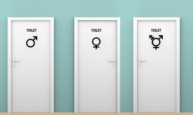 Toilet, toilet for transgender, trump transgender, trump gay, obama, three toilets