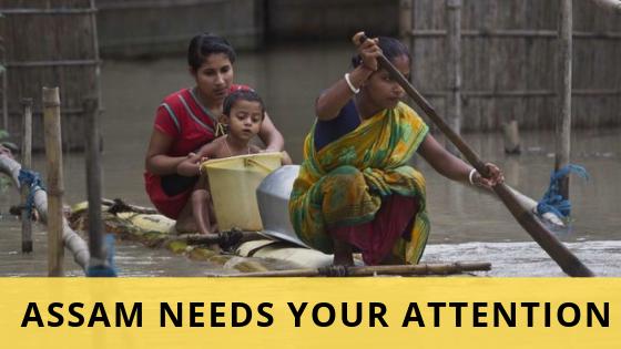 असम में आए विकराल बाढ़ ने 52 लाख लोगों को किया प्रभावित, आप कर सकते है मदद - Chaaipani